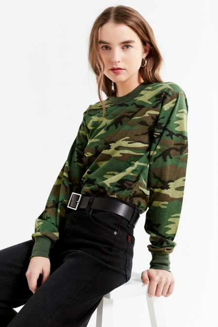 Vintage Camo Long Sleeve Tee