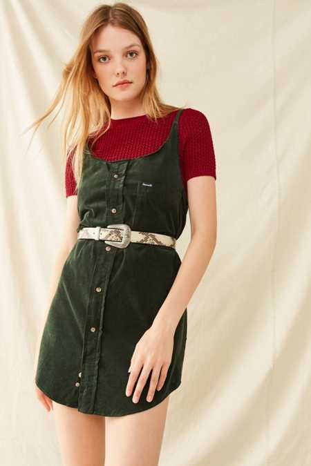 Urban Renewal Remade Button-Down Corduroy Shift Dress