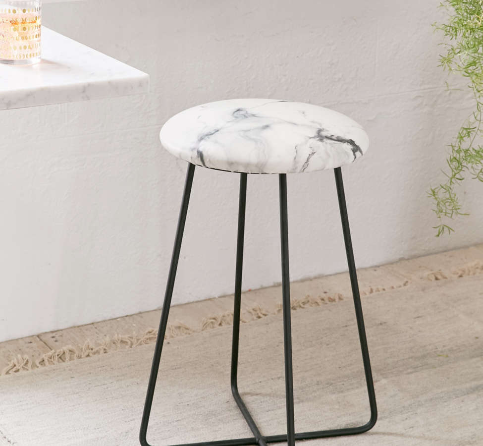 Slide View: 1: Chelsea Victoria For Deny Marble Counter Stool