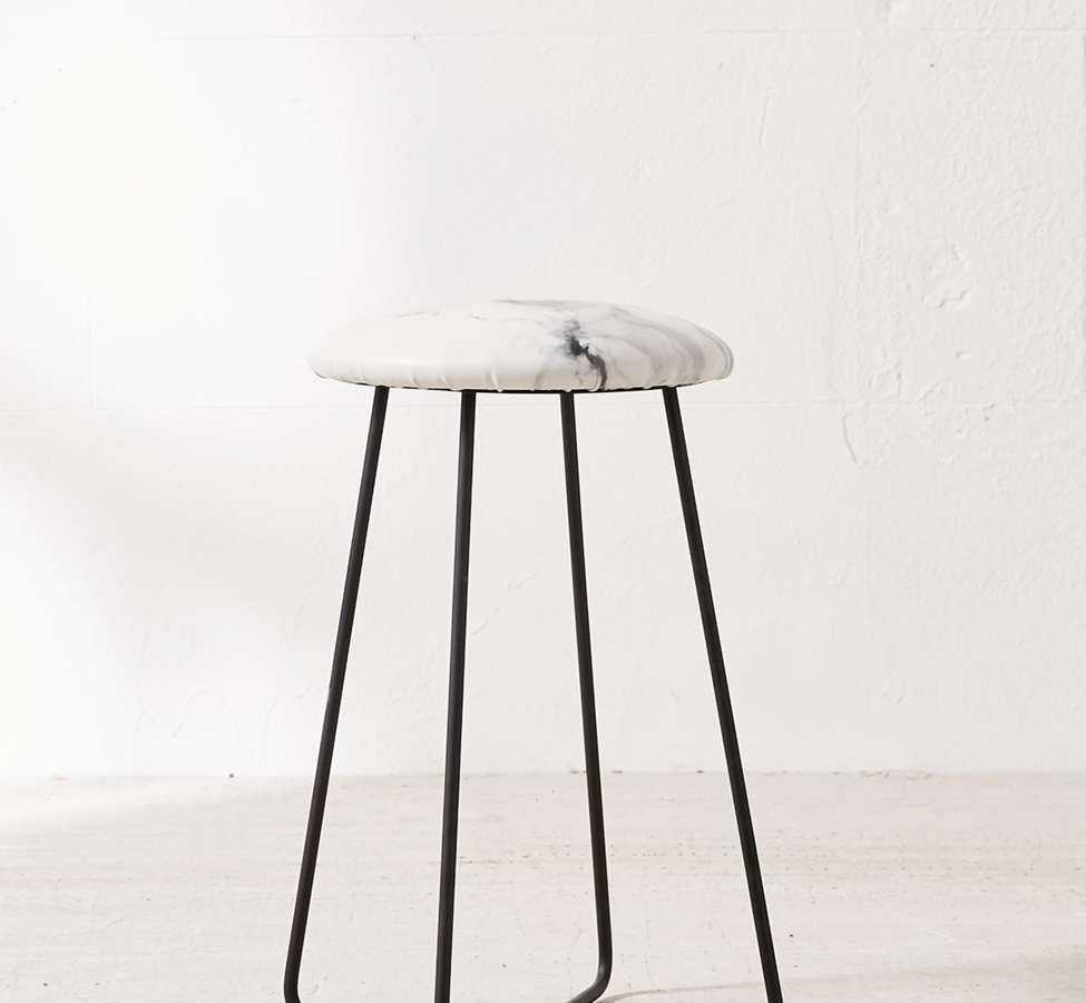 Slide View: 2: Chelsea Victoria For Deny Marble Counter Stool