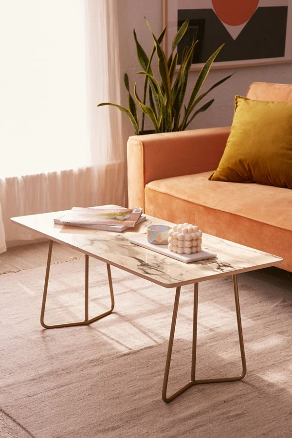 Chelsea Victoria For Deny Marble Coffee Table Urban Outfitters - Long marble coffee table
