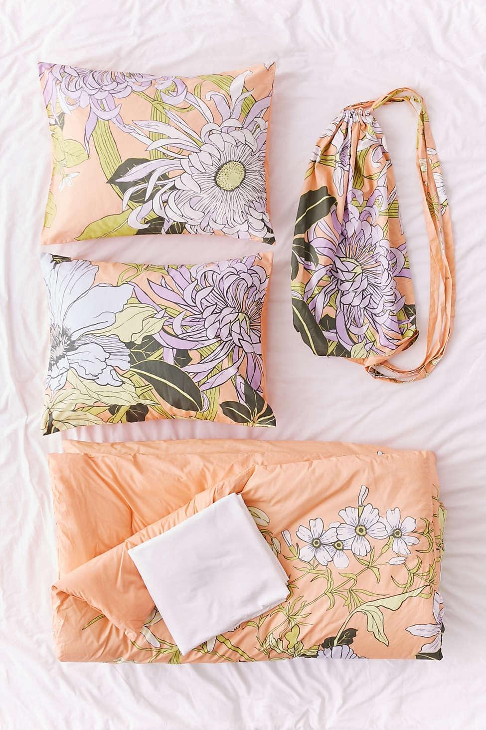 Slide View: 1: Botanical Scarf Comforter Snooze Set