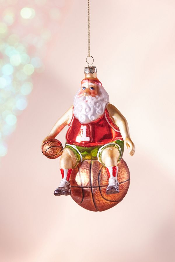 B-Ball Santa Christmas Ornament