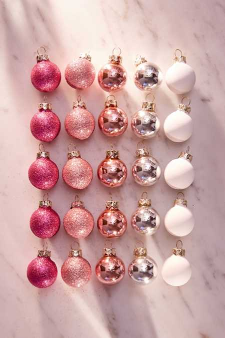 Pink  Christmas  Holiday Ornaments  Urban Outfitters Canada