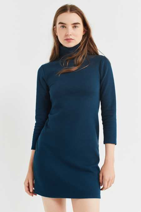UO Tucker Ribbed Turtleneck Mini Dress