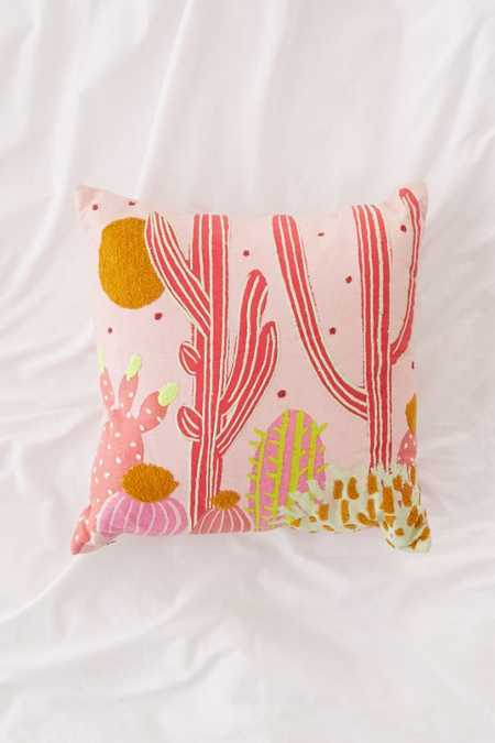 Cactus Landscape Throw Pillow