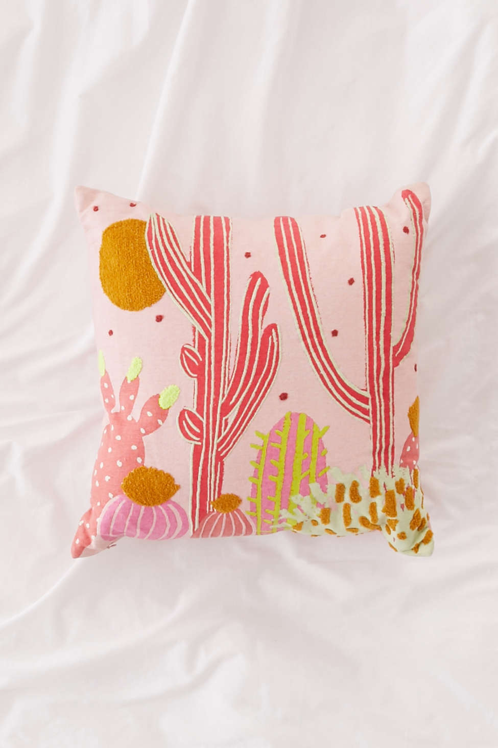 Slide View: 1: Cactus Landscape Throw Pillow