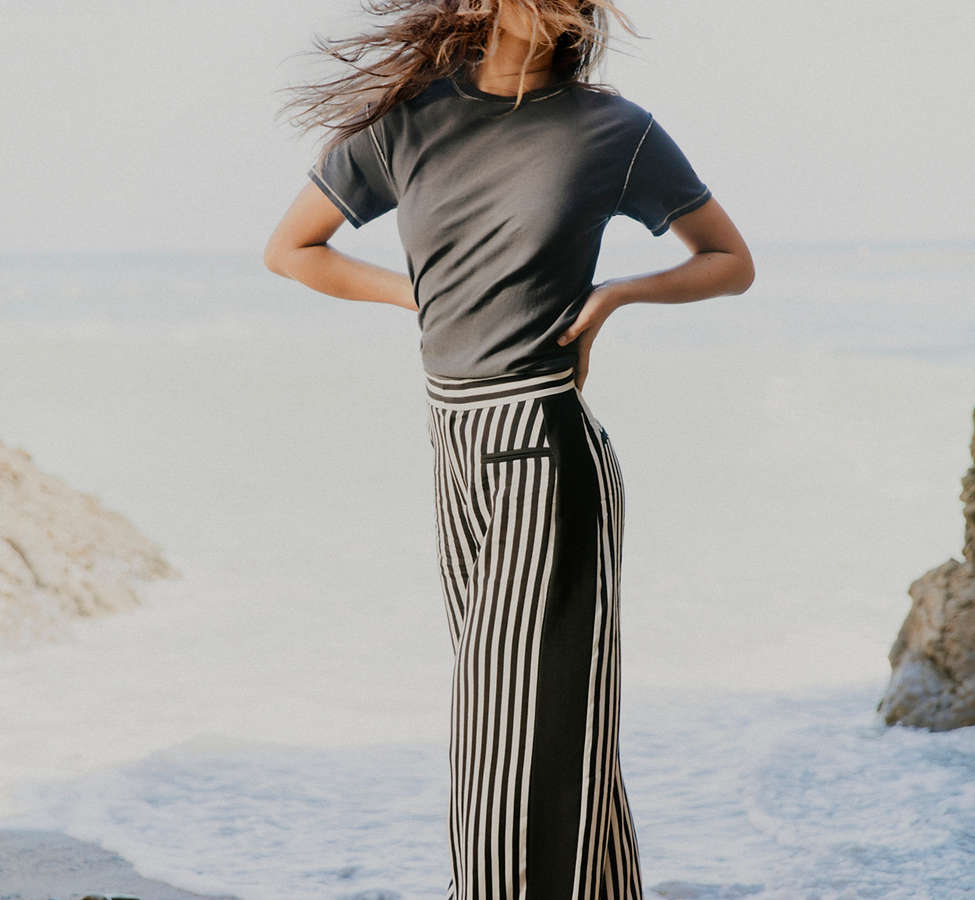 Slide View: 1: UO High-Rise Striped Pant