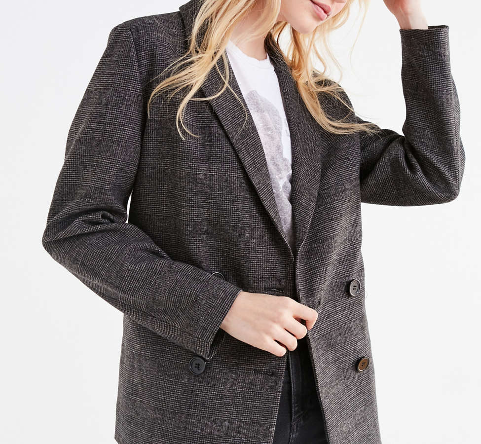 Slide View: 1: UO Double-Breasted Wool Blazer