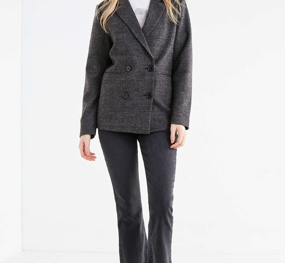Slide View: 2: UO Double-Breasted Wool Blazer