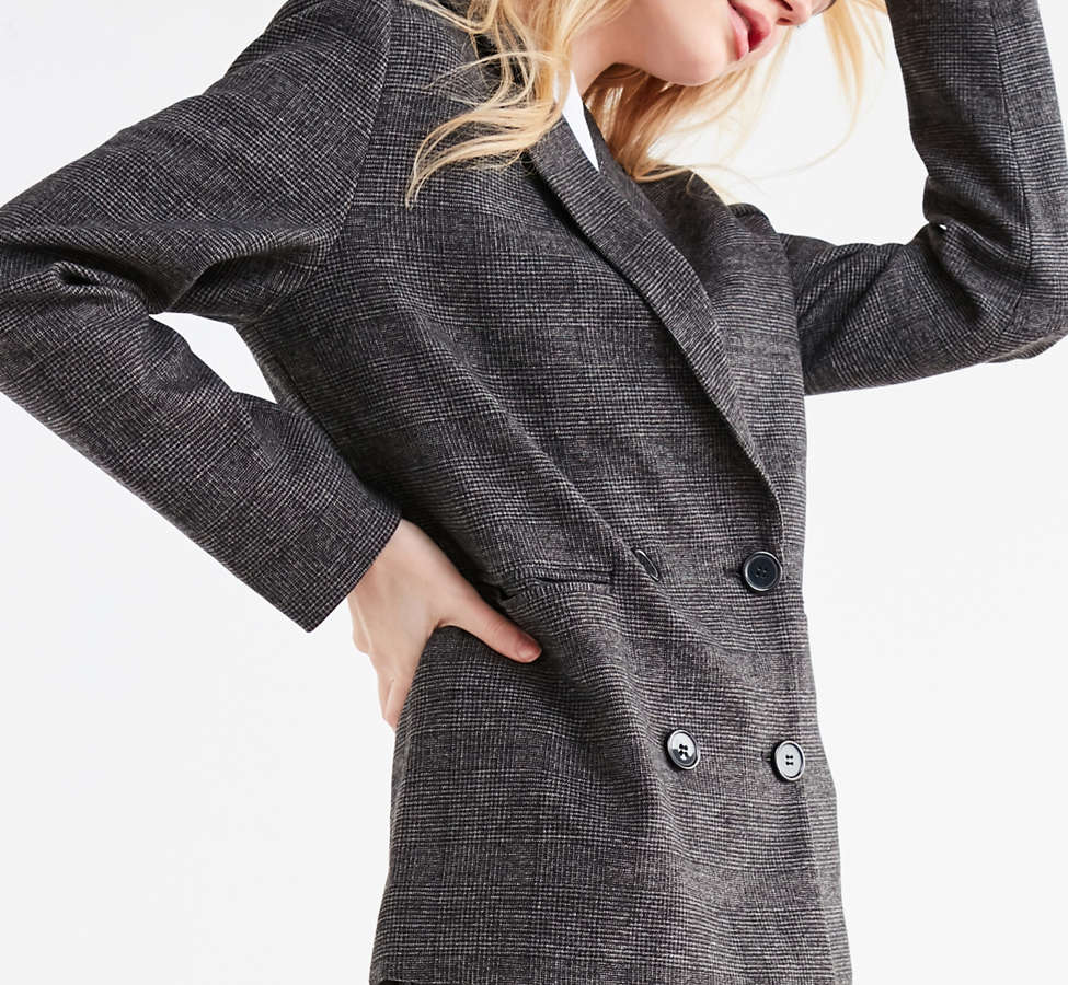 Slide View: 4: UO Double-Breasted Wool Blazer