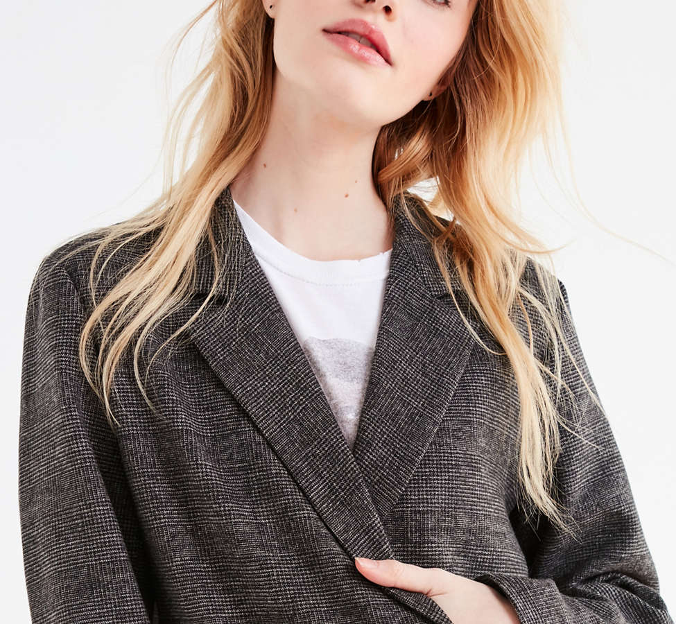 Slide View: 5: UO Double-Breasted Wool Blazer