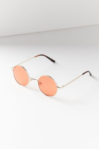 London Round Sunglasses - Gold One Size at Urban Outfitters