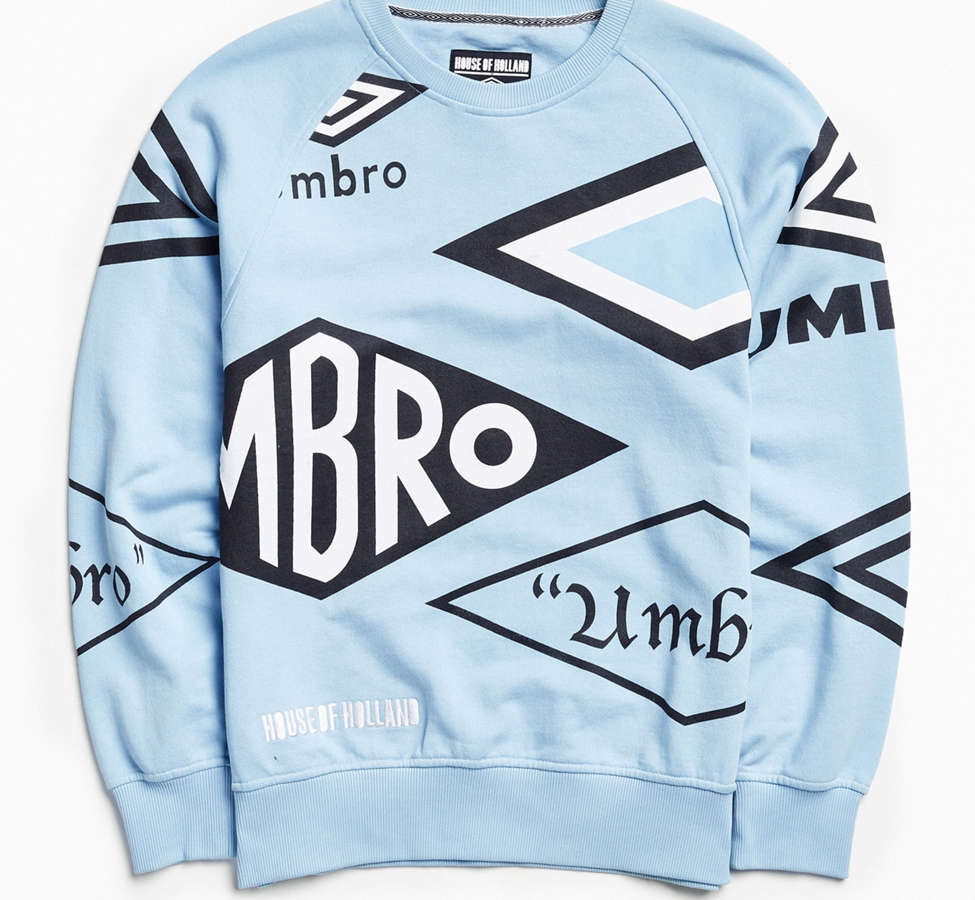 Slide View: 2: Umbro X House Of Holland Logo Crew Neck Sweatshirt