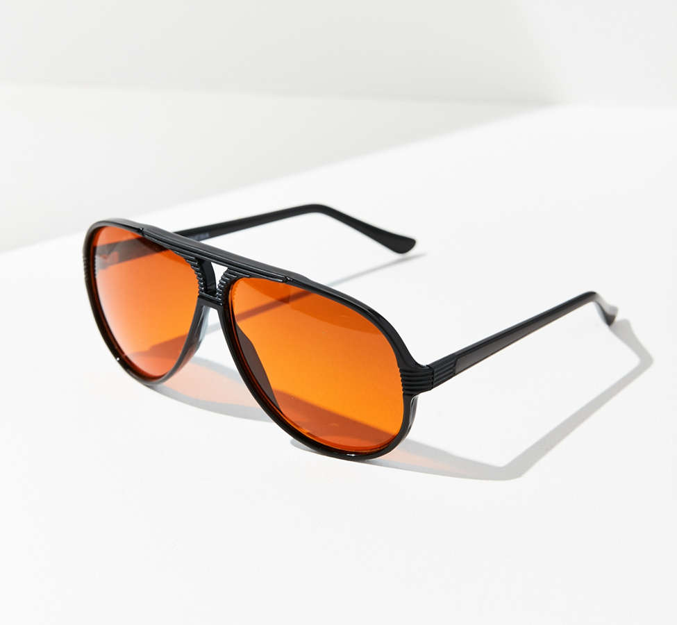 Slide View: 1: Vintage Caine Aviator Sunglasses