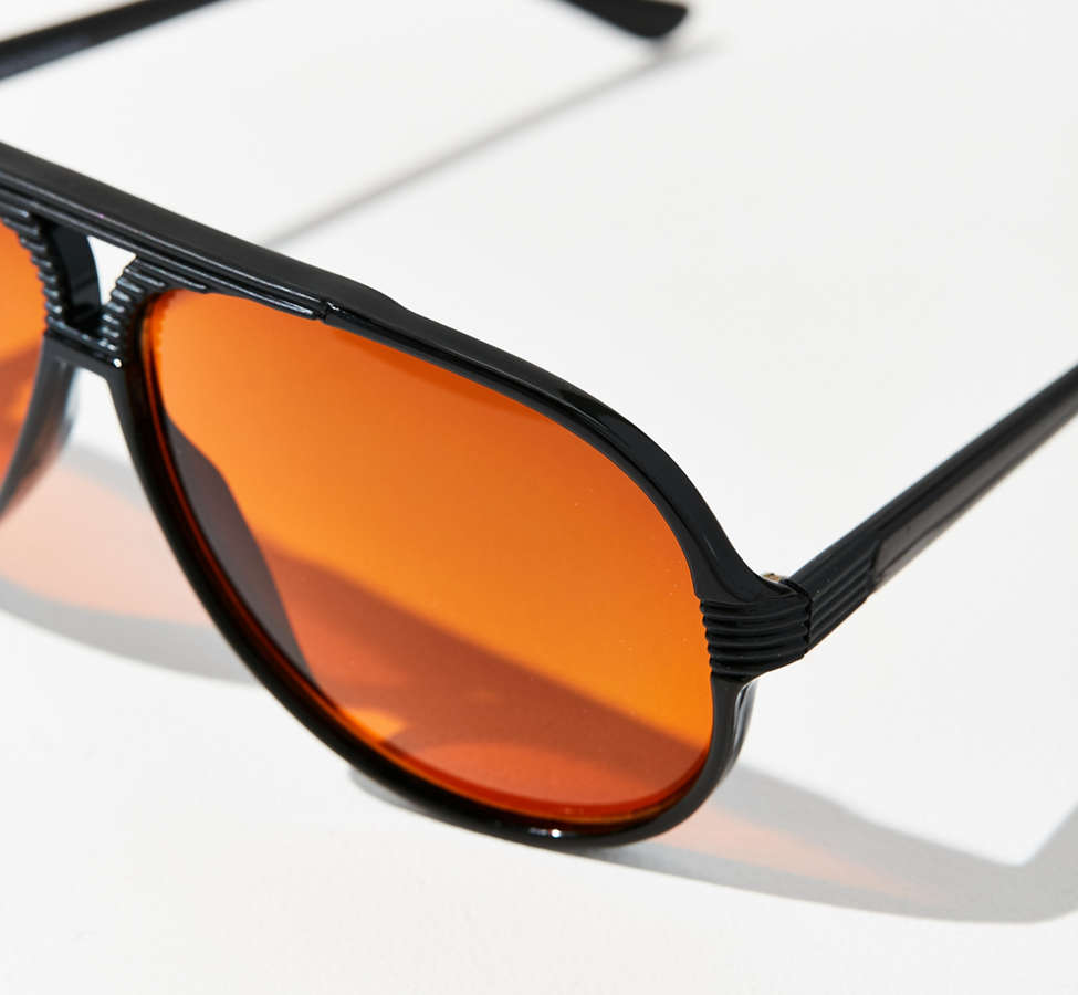 Slide View: 3: Vintage Caine Aviator Sunglasses