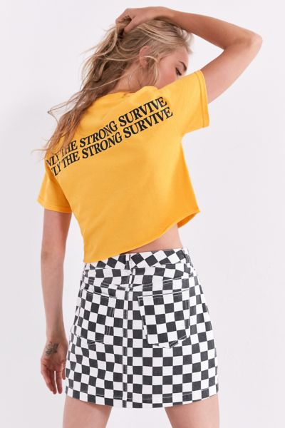 Only The Strong Survive Cropped Tee