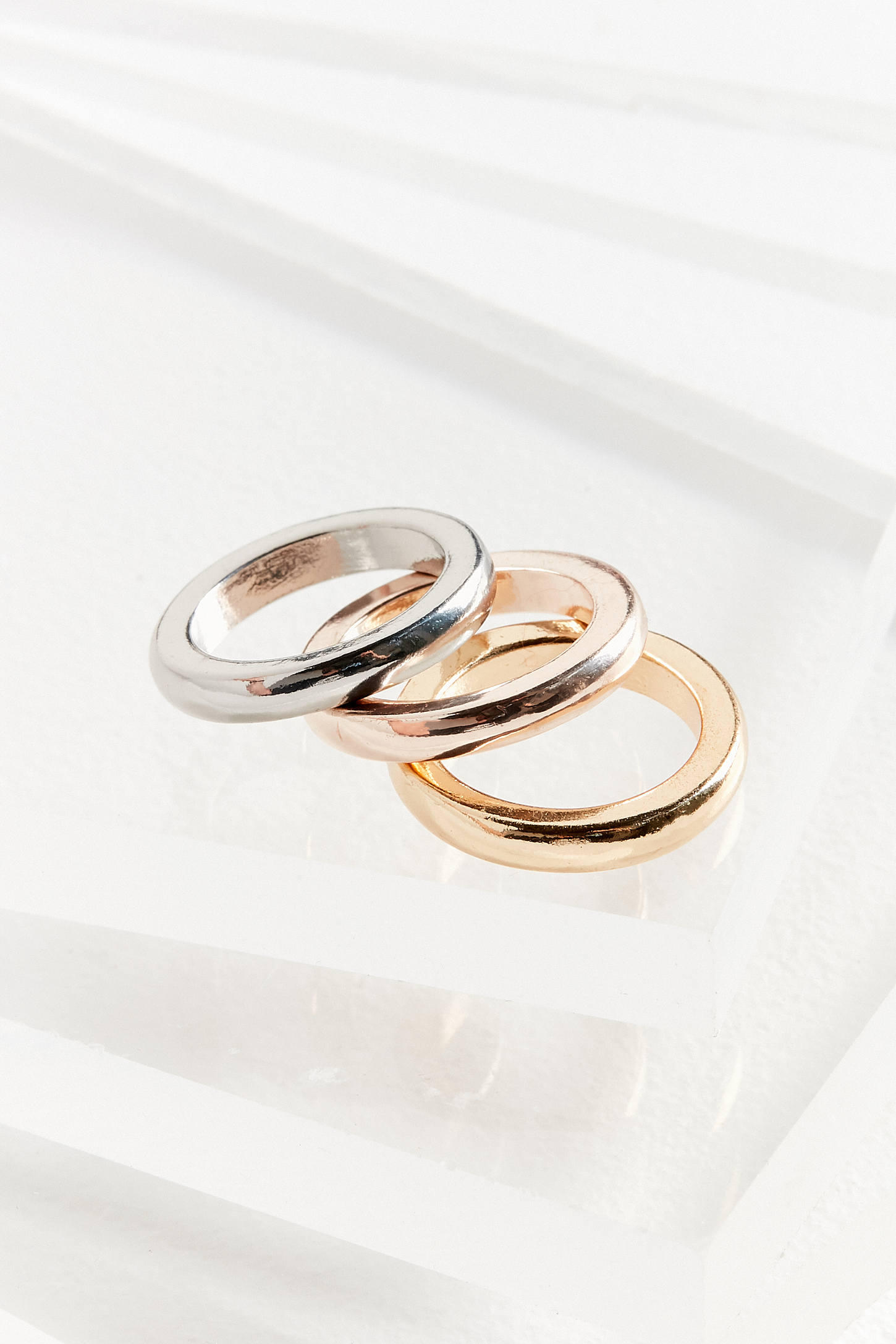 mixed metal ring set   urban outfitters