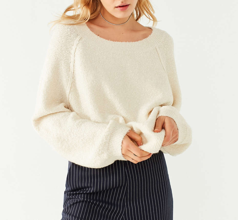 Slide View: 1: UO Cozy Off-The-Shoulder Sweater