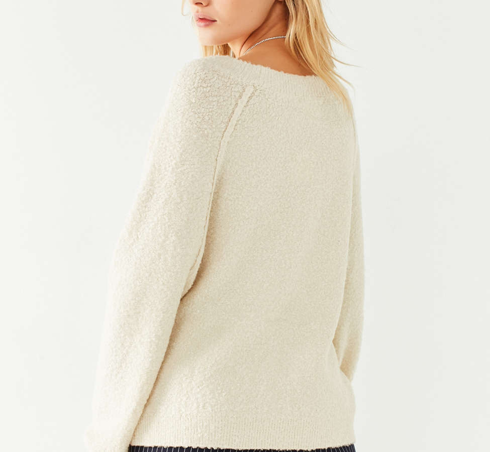 Slide View: 2: UO Cozy Off-The-Shoulder Sweater