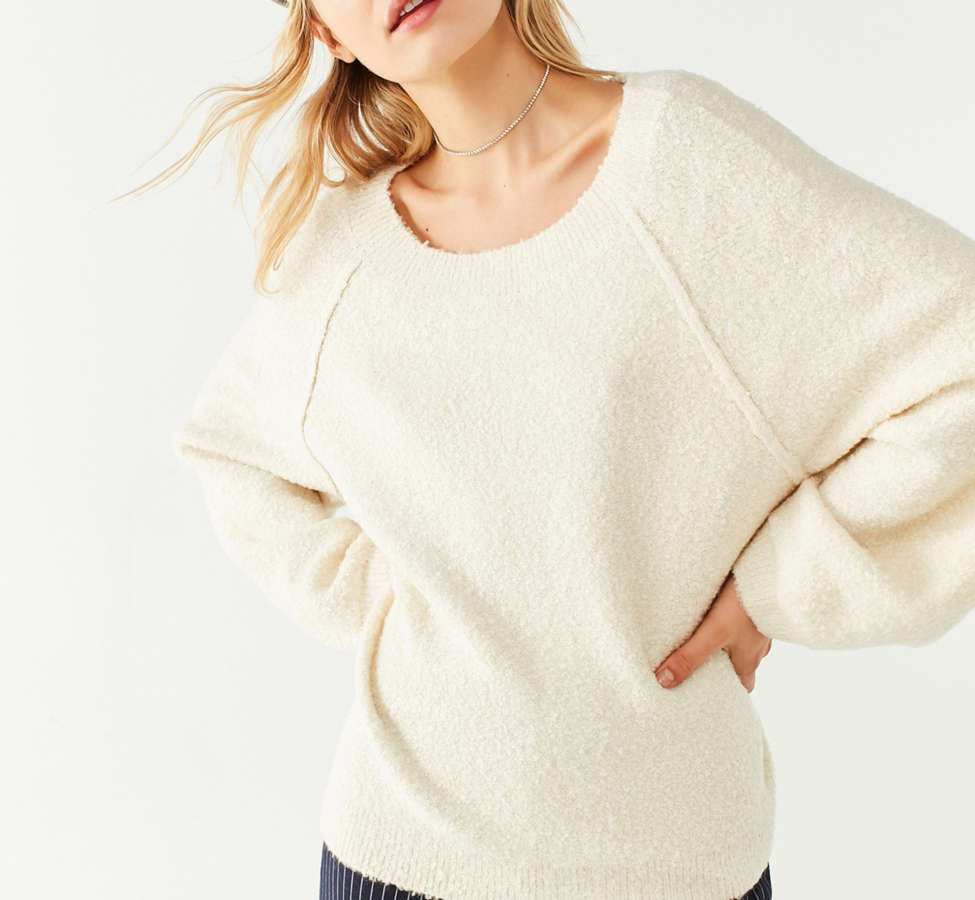 Slide View: 5: UO Cozy Off-The-Shoulder Sweater