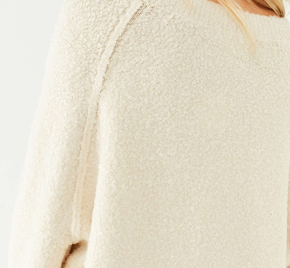 Slide View: 6: UO Cozy Off-The-Shoulder Sweater
