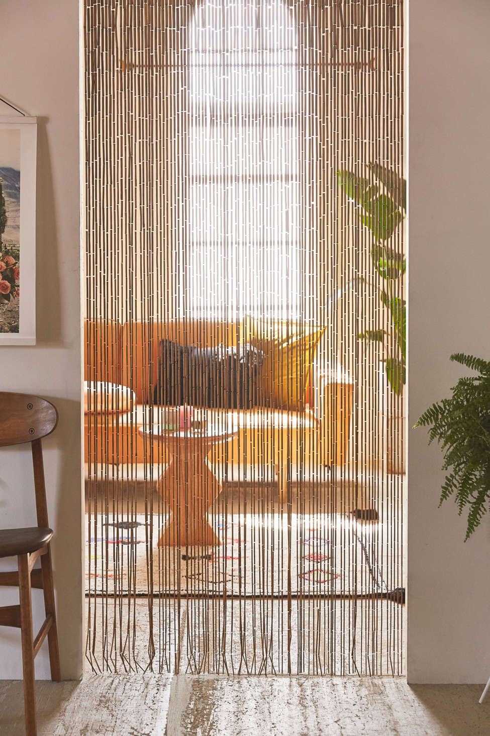 Slide View: 2: Bamboo Beaded Curtain