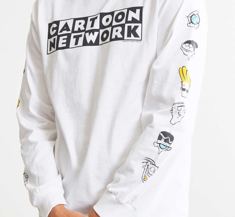Slide View: 2: Cartoon Network Logo Head Long Sleeve Tee
