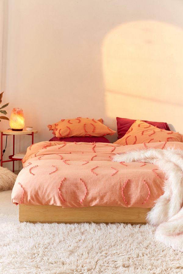 by zanui grey beck duvet peach cover set quilt linen deco house