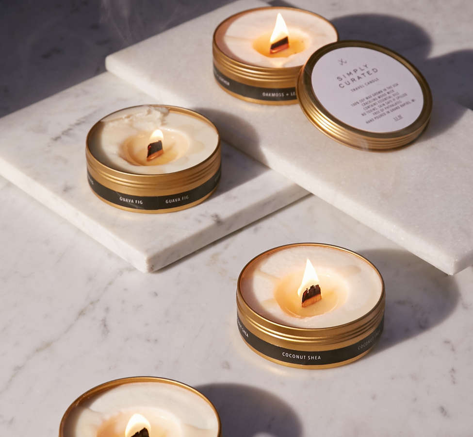 Slide View: 3: Simply Curated Wooden Wick Candle