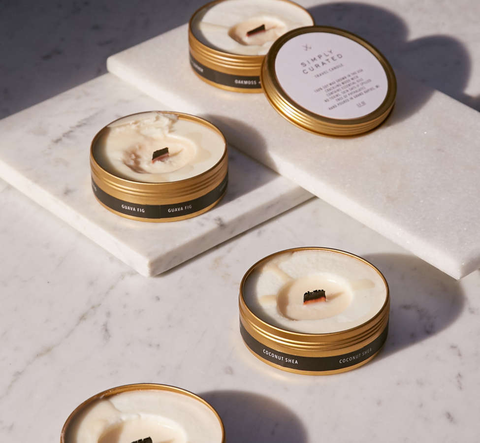 Slide View: 4: Simply Curated Wooden Wick Candle
