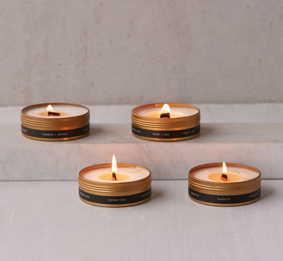 Slide View: 5: Simply Curated Wooden Wick Candle