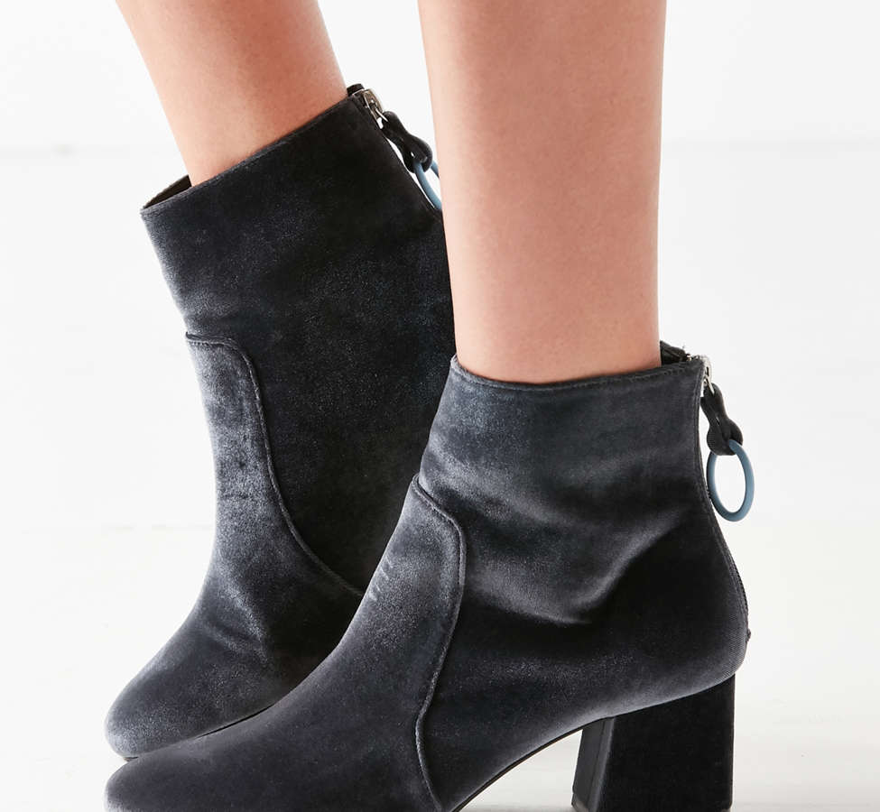 Slide View: 2: Harlow Velvet O-Ring Ankle Boot