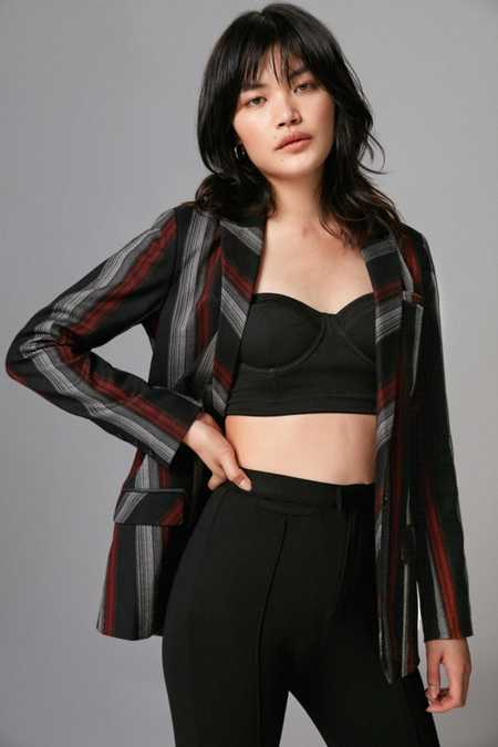 Volcom Stone Row Mad Hotter Striped Blazer