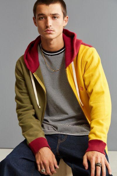 Aldies Eagle Zip Hoodie Sweatshirt - Maroon S at Urban Outfitters