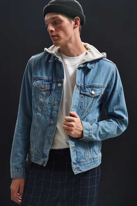 BDG Hooded Core Denim Trucker Jacket