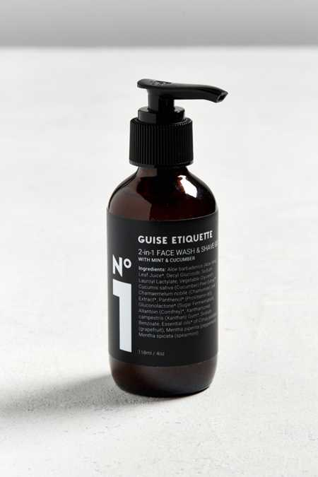 Guise Etiquette No. 1 2-In-1 Face Wash + Shave Gel