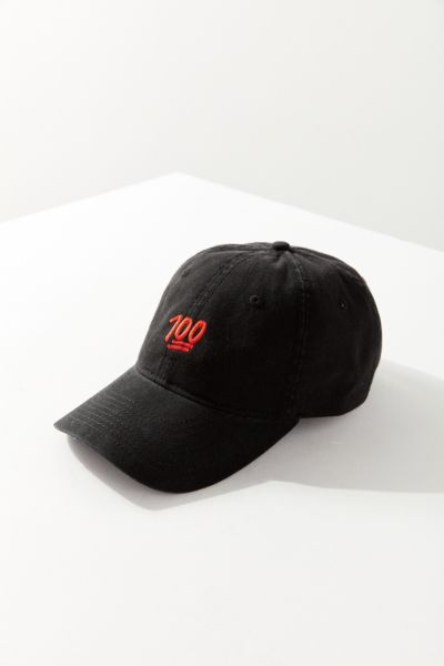 Emoji 100 Baseball Hat - Black One Size at Urban Outfitters