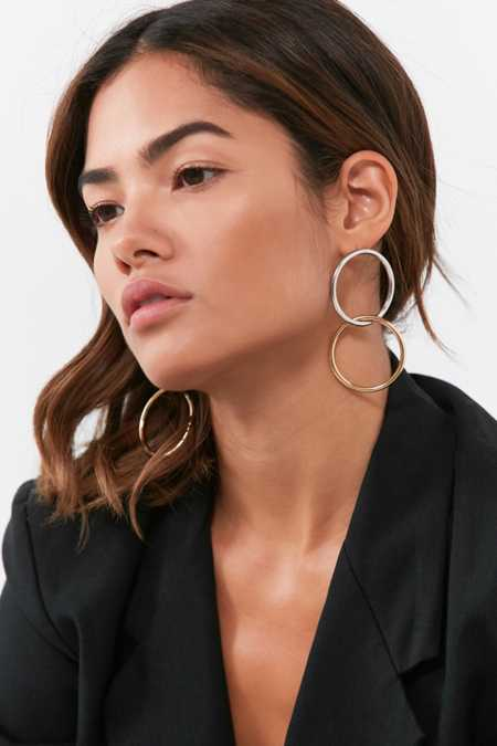 Interlinked Round Drop Earring