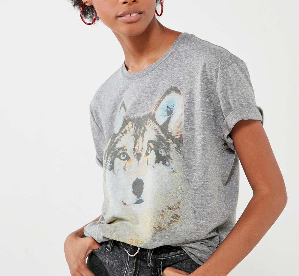 Slide View: 6: National Geographic Wolf Tee