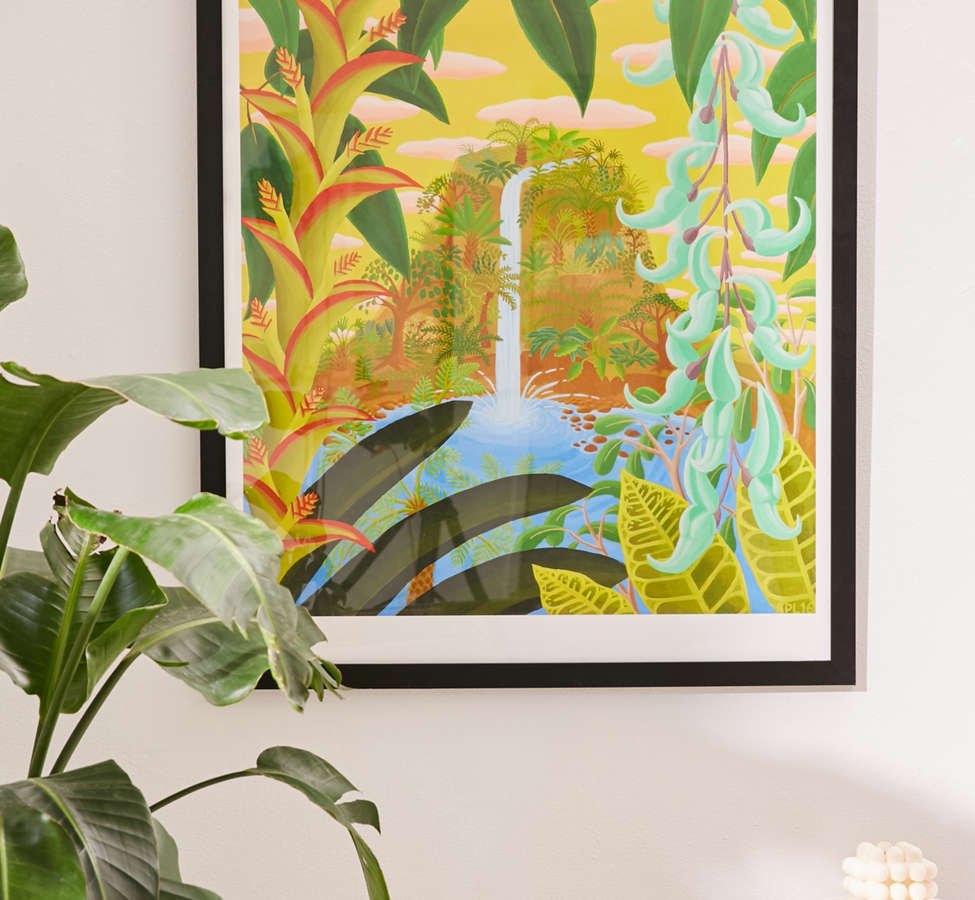 Slide View: 1: Amy Lincoln Jungle Waterfall Art Print