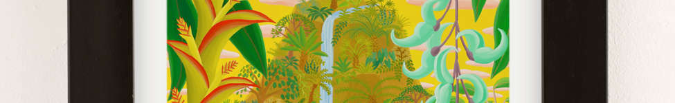 Thumbnail View 2: Amy Lincoln Jungle Waterfall Art Print