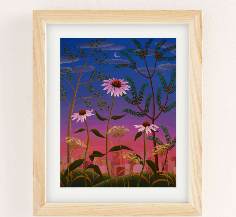 Slide View: 1: Amy Lincoln Wildflowers Art Print