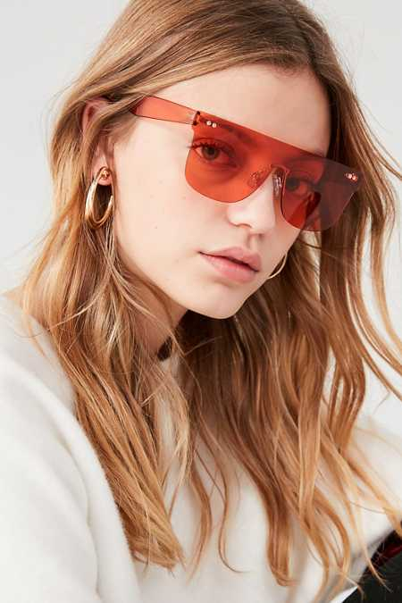 Zoe Rimless Shield Sunglasses