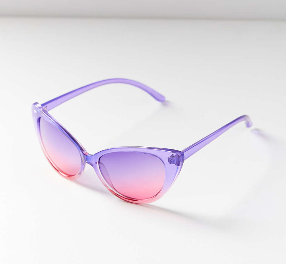 Slide View: 2: Gradient Cat-Eye Sunglasses