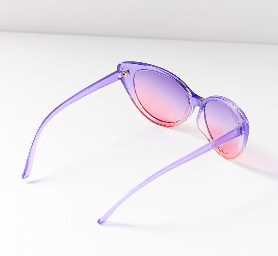 Slide View: 3: Gradient Cat-Eye Sunglasses