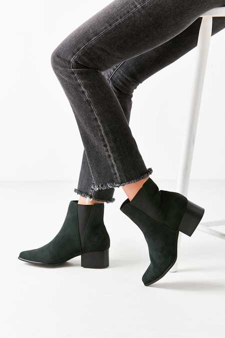 Pola Suede Green Chelsea Boot