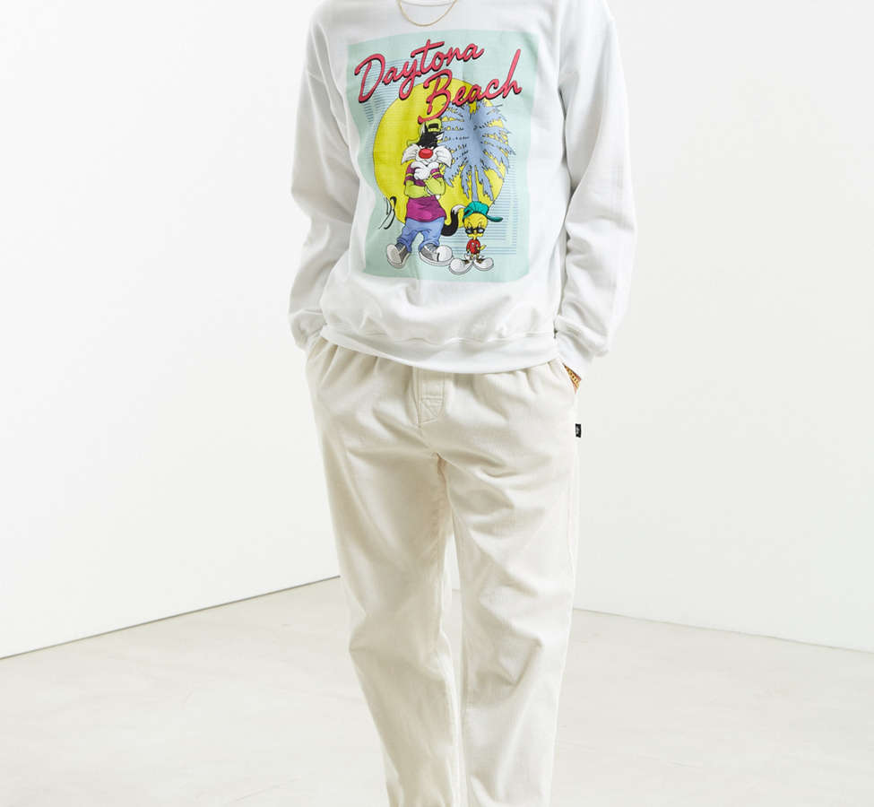 Slide View: 6: Sweatshirt à col rond Daytona Beach Looney Tunes