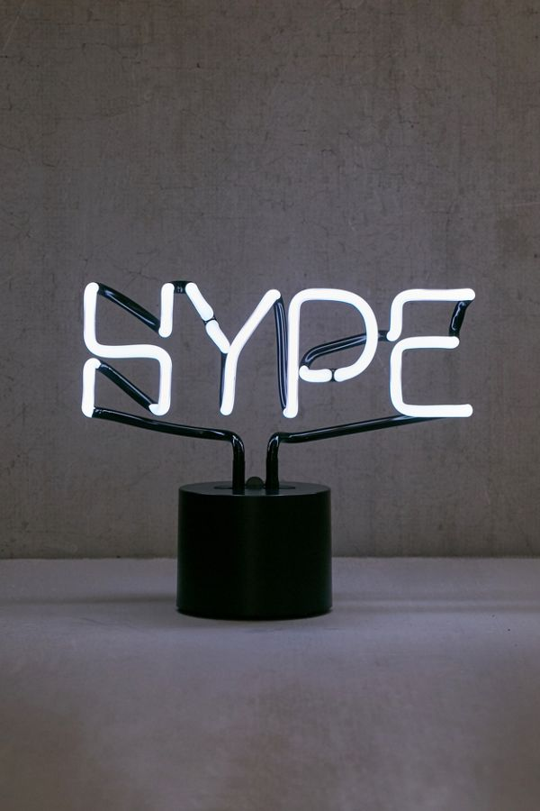 Hype Neon Sign Table Lamp Urban Outfitters