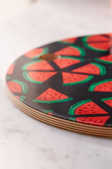 Slide View: 4: Susanne Kasielke For Deny Melon Choly Fruit Salad Dark Cutting Board